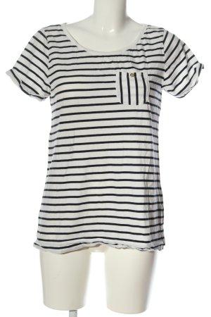 H&M Camisa de rayas blanco-negro estampado a rayas look casual