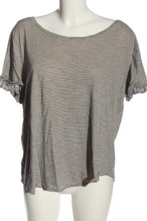 H&M Ringelshirt wollweiß-schwarz Streifenmuster Casual-Look