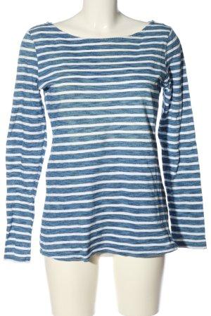 H&M Ringelshirt blau-weiß Allover-Druck Casual-Look