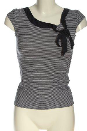 H&M Gestreept shirt lichtgrijs-zwart gestreept patroon casual uitstraling
