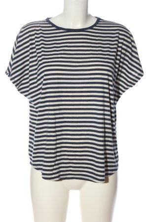 H&M Koszulka w paski biały-niebieski Na całej powierzchni W stylu casual