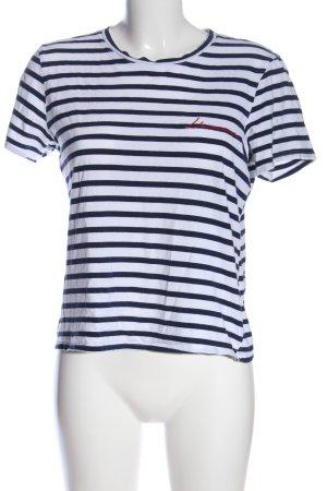 H&M Camisa de rayas negro-blanco estampado repetido sobre toda la superficie