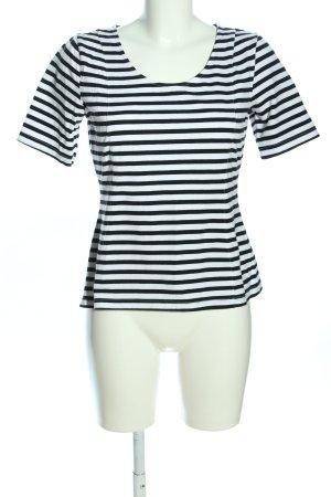 H&M Ringelshirt weiß-schwarz Allover-Druck Casual-Look