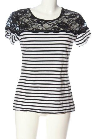 H&M Koszulka w paski czarny-biały Wzór w paski W stylu casual
