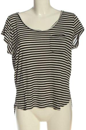 H&M Stripe Shirt black-white allover print casual look
