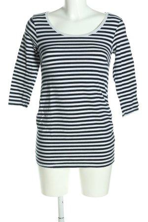 H&M Ringelshirt schwarz-weiß Streifenmuster Casual-Look