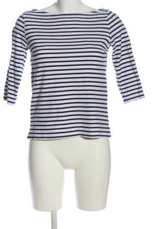 H&M Gestreept shirt zwart-wit gestreept patroon casual uitstraling