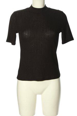 H&M Rippshirt braun Casual-Look