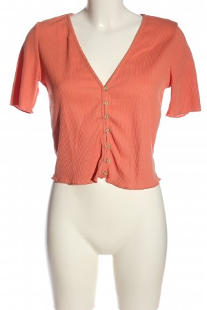 H&M Ribbed Shirt light orange casual look