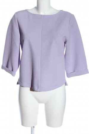 H&M Rippshirt lila Casual-Look