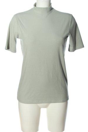H&M Camisa acanalada gris claro estampado a rayas look casual