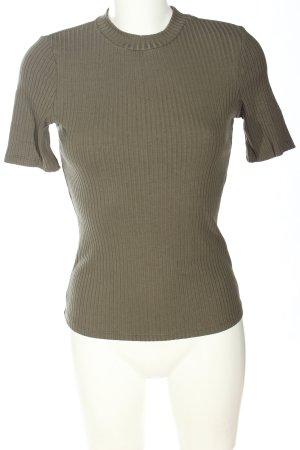 H&M Rippshirt khaki Casual-Look