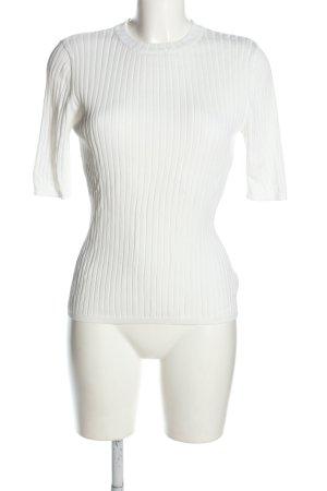 H&M Rippshirt weiß Casual-Look