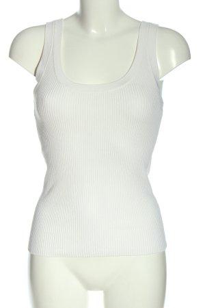H&M Chemise côtelée blanc style décontracté