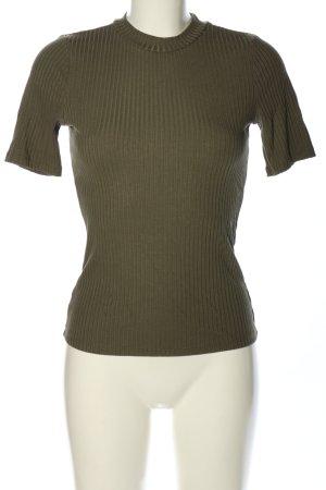 H&M Geribd shirt khaki casual uitstraling