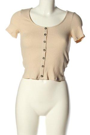 H&M Camisa acanalada blanco puro look casual