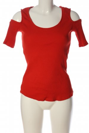 H&M Ribbed Shirt red casual look