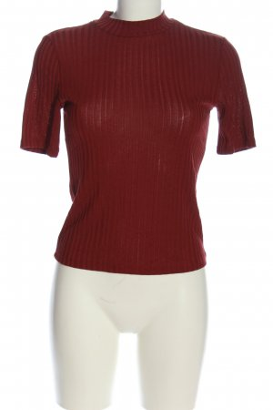 H&M Rippshirt rot Casual-Look