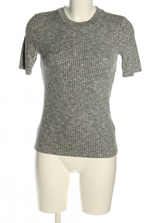H&M Ribbed Shirt light grey flecked casual look