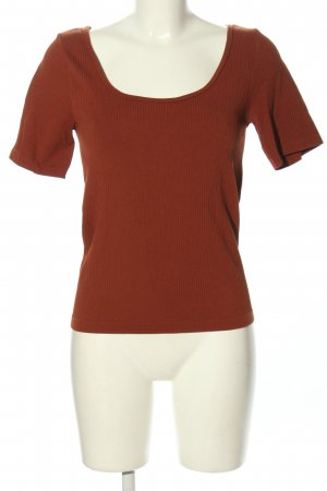 H&M Camisa acanalada marrón look casual