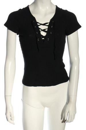 H&M Chemise côtelée noir style décontracté