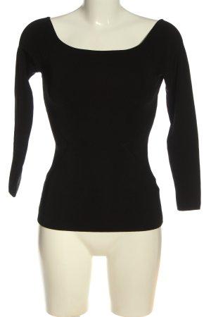 H&M Prążkowana koszulka czarny W stylu casual
