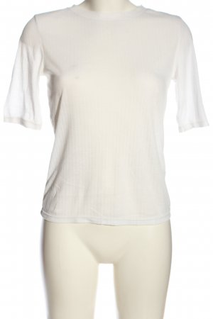 H&M Ribbed Shirt white casual look