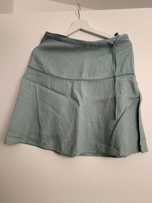 H&M Lniana spódnica jasnoniebieski