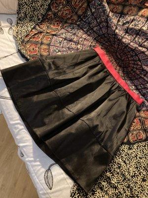 H&M Spódnica z wysokim stanem czarny-różowy