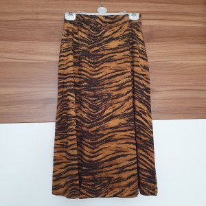 H&M Asymetryczna spódniczka czarny-cognac