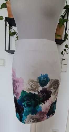 H&M Jupe en lin multicolore