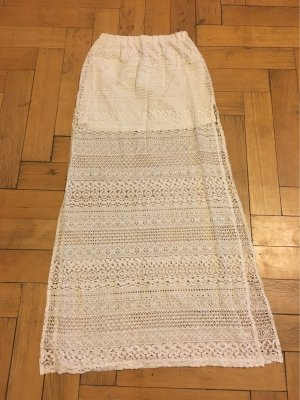 H&M Falda de encaje blanco