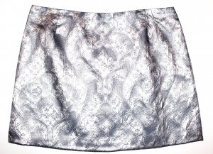 H&M Rock Grau Silber Paisley 46 Neu