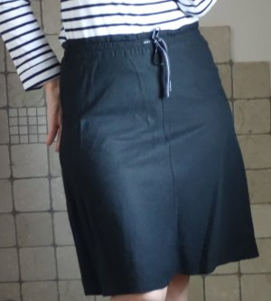 H&M Falda de lino negro tejido mezclado