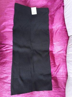 H&M Gonna lavorata a maglia nero