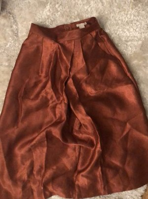 H&M Flared Skirt gold-colored-russet