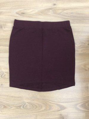 H&M Spódnica ze stretchu ciemnoczerwony-bordo