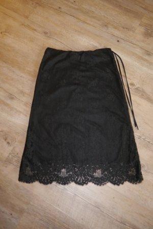 H&M Lace Skirt black mixture fibre