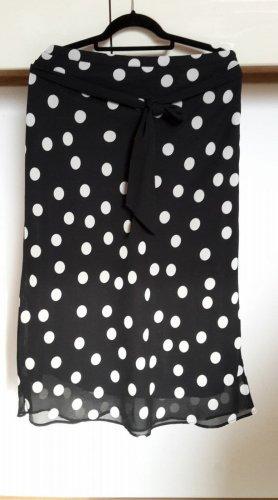 H&M Rock schwarz/weiße Punkte Gr. 36