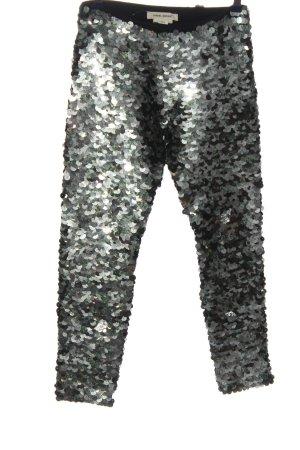 H&M Röhrenhose silberfarben-schwarz Casual-Look