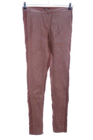H&M Pantalon cigarette bronze style décontracté