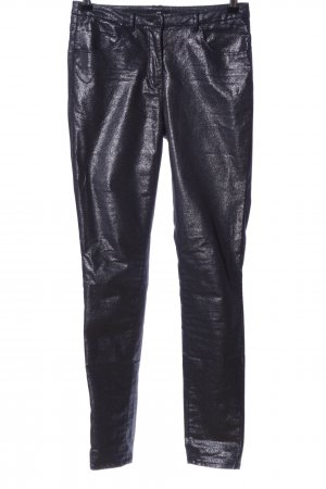 H&M Pantalón de tubo negro look efecto mojado