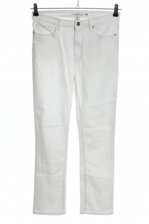 H&M Drainpipe Trousers white casual look