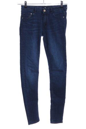 H&M Röhrenhose blau Casual-Look