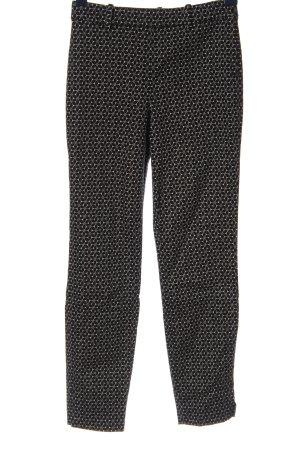 H&M Röhrenhose schwarz-weiß Allover-Druck Casual-Look
