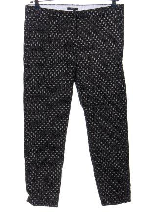 H&M Chinohose schwarz-weiß Allover-Druck Casual-Look