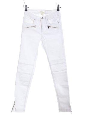 H&M Regenpijpbroek wit casual uitstraling