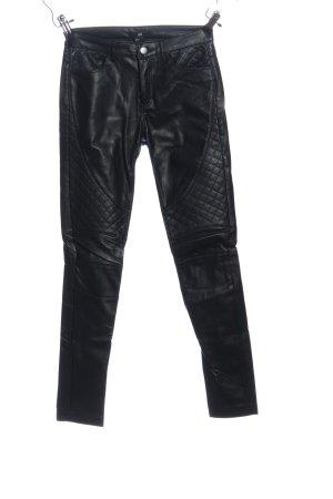 H&M Röhrenhose schwarz Steppmuster Casual-Look