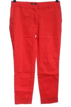H&M Röhrenhose rot Casual-Look