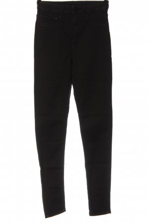 H&M Röhrenjeans schwarz Elegant